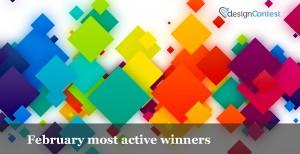 MOST ACTIVE DESIGNCONTEST FEBRUARY WINNERS
