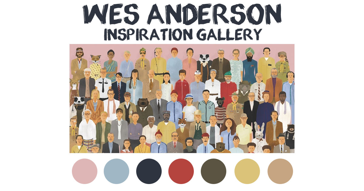 Inspiration Gallery: Wes Anderson Color Palettes