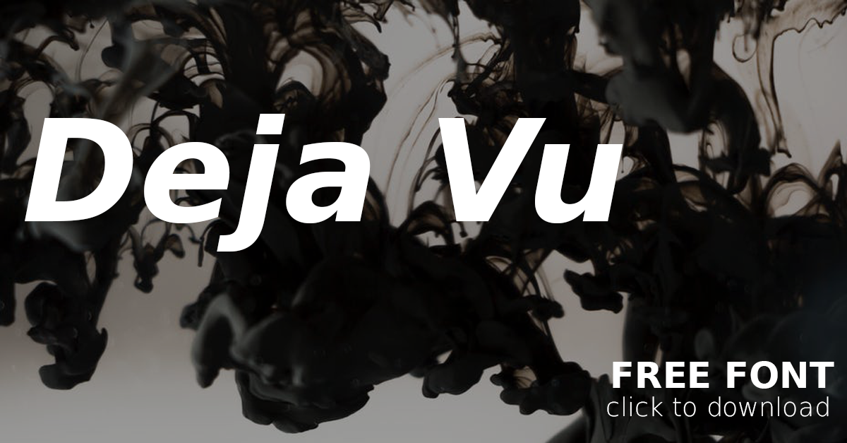 Download Free Tuesday Design Font: DeJa Vu