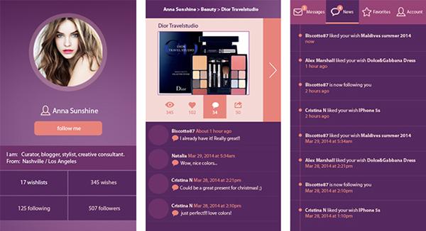 ultra violet mobile app design