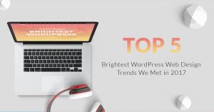 Top 5 WordPress Web Design Trends We Met in 2017