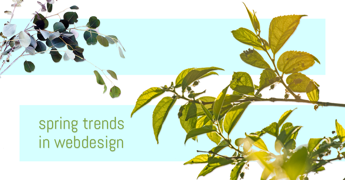Spring Trends In Web Design For 2018